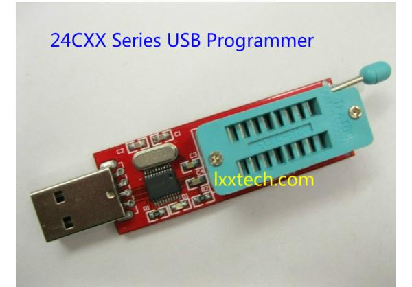 Free shipping 5 pcs/lot usb 24cxx 24lcxx programmer eeprom data memory reader writer to 24c1024 + 3 ic adapter socket