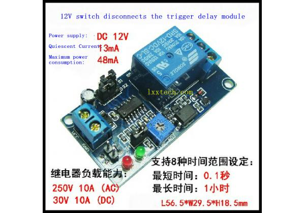 12v Normally Closed Relay Trigger Delay The Delay Circuit