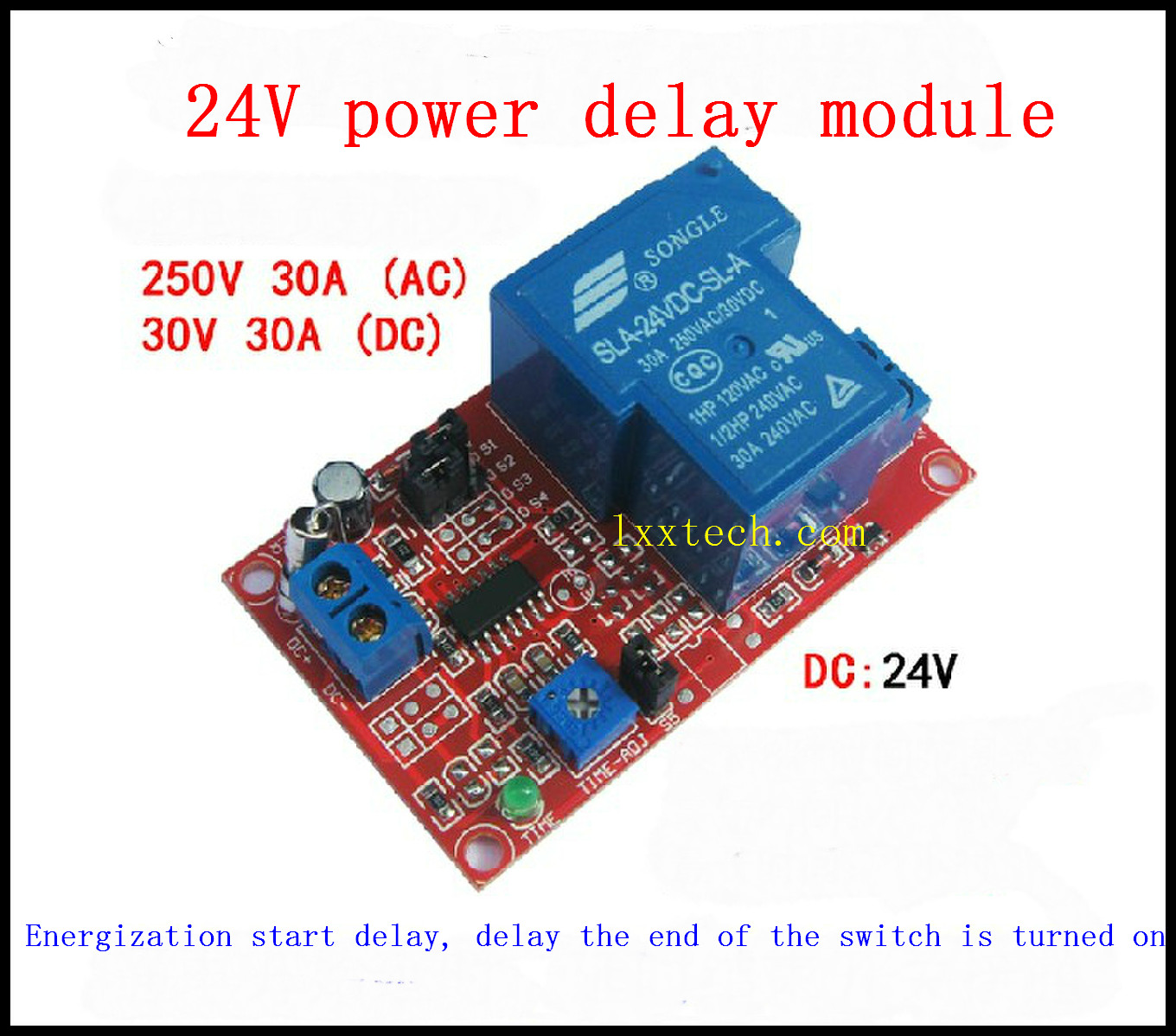 Fluorescent Light Delayed Start: 24V Power Delay Module, Delay Switch, Time Delay Relays